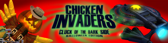 Game Chicken Invaders 5 Cluck of the Dark Side Halloween Edition