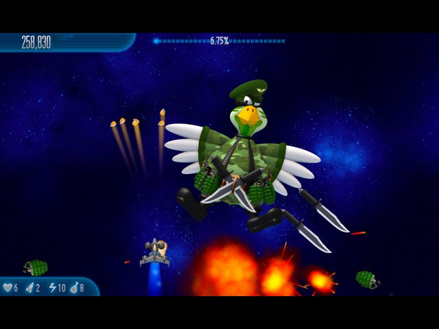 Game screenshot  «Chicken Invaders 5: Cluck of the Dark Side» № 1