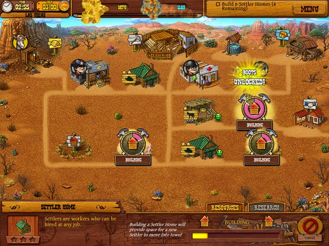 Game screenshot  «Settlers of the West» № 2